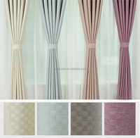 linen imitate blackout curtain fabric high-end hotel curtain fabric flame retardant blackout