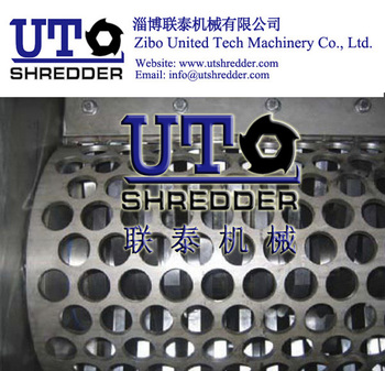 coated paper shredder/ news paper shredder/ single shaft shredder/ one shear shredder / cardboard shredder