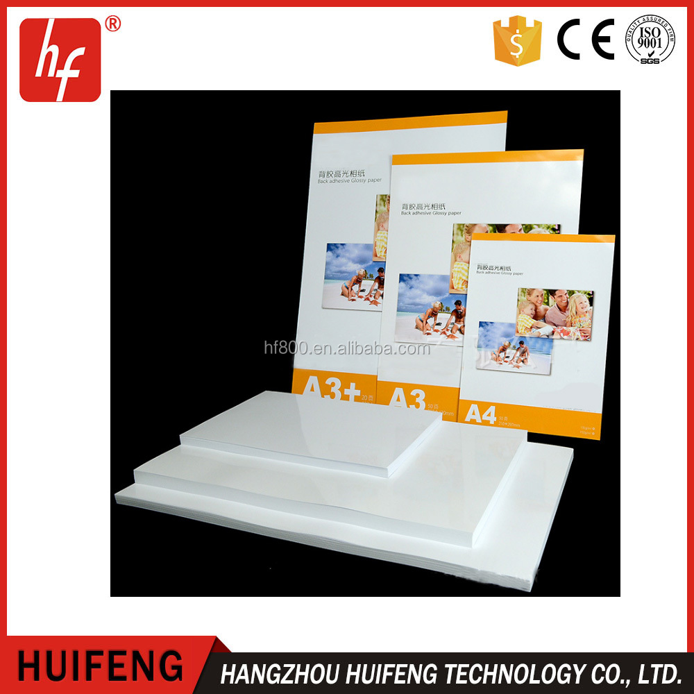 A4 135g 150g single face Inkjet Sticker Glummed High Glossy Photo Paper