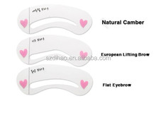 DIHAO Eyes- 3 Styles Grooming Brow Painted Model Stencil Kit Shaping DIY Beauty Eyebrow Template Stencil Make Up Eyebrow