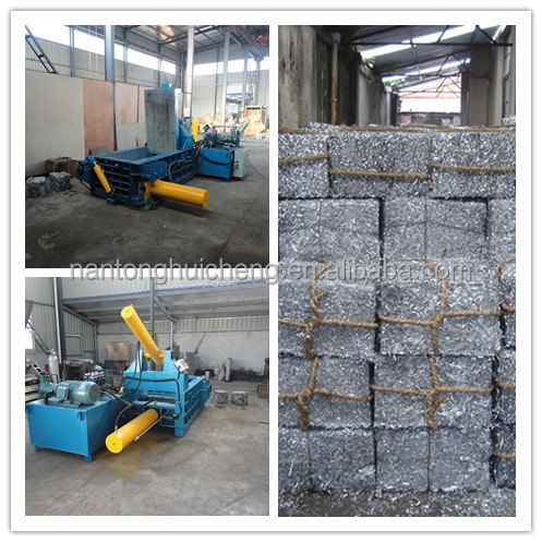 horizontal baler machines for scrap iron for scrap metal/aluminium