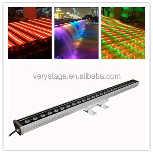 Factory Direct Export IP65 Outdoor Waterproof Slim Bar PRO LED Wash 4in1 RGBW 24x10w DMX Linear LED Wall Washer Light