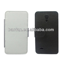 Blank sublimation leather phone case for samsung S4 mini