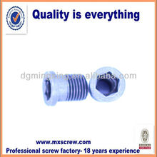 Fine machining thread hollow screw /stainless steel/metric