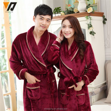Winter flannel Couples gown Thickened Coral velvet men and women Bathrobes