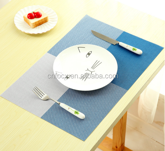 High quality quick-drying waterproof PVC placemat dining table mat bowl placemat