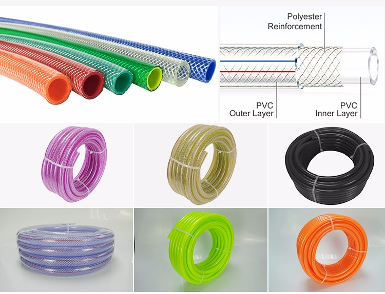 EASTOPS Customized Color 2 Inches Clear Braided Pipe Flexible Fabric Hose For Drinking Water