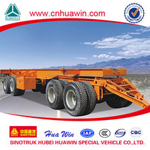 2014 new design large capacity 4 Axles Skeletal Pulling Cargo Trailer