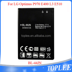 100% Original Li-ion Lithium BL-44JN Battery for LG P690 P693 E730 P970 with factory price