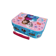 logo print cardboard suitcase for toy