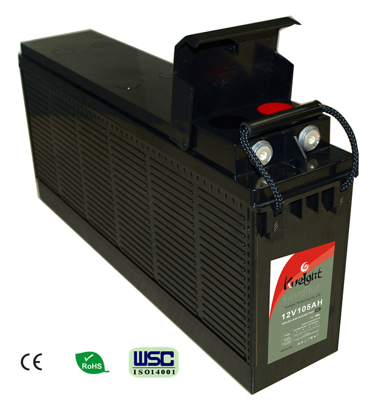 Gel 12V 105AH AGM Front terminal deep cycle lead acid battery