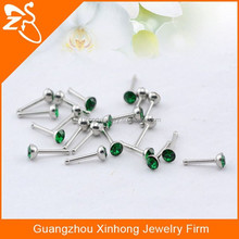 Straight bar ball piercing nickel free nose rings