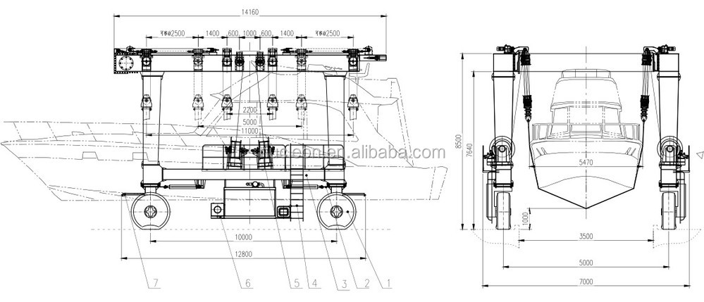 Nucelon Mobile Boat Hoist 500 ton New Type boat crane .JPG
