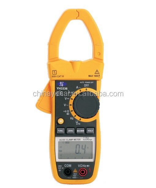 Single phase harmonic digital power factor clamp meter