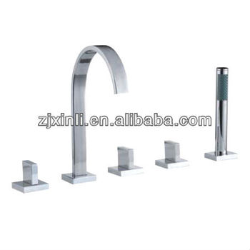 High Quality Brass Bathtub Tap, Polish and Chrome Finish, Square Series