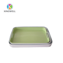 set of 3pcs melamine serving ware tray