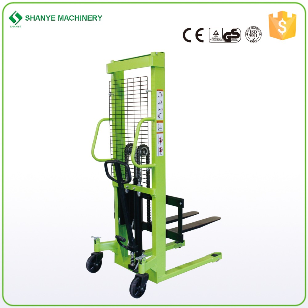 1 ton 1.6m Hydraulic Hand Forklift Manual Stacker