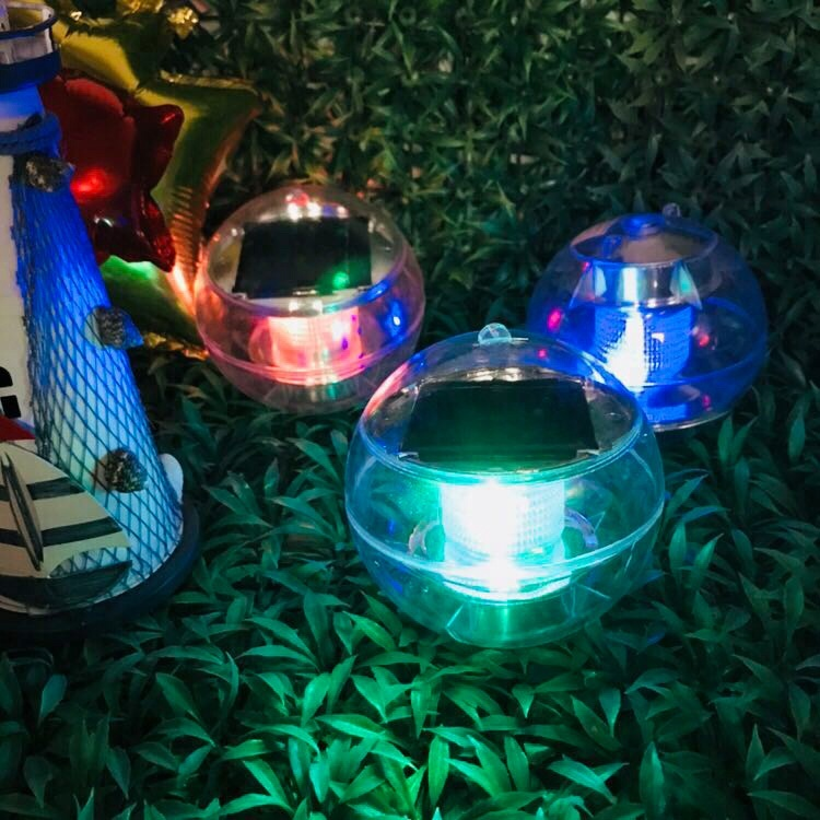 Wholesale pool floating waterproof led light ball for decoration