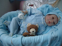 Blue lovely reborn baby doll clothes from Chiness factory