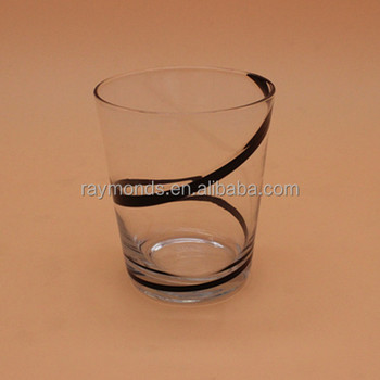 Drinking Highball Glass With Black Lines