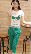 snoopy cutural100% cotton women printed t shirts