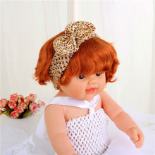 21 Colors Wholesale Hair Accessories Ribbon Bow with Elastic Band F449