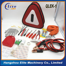 Roadside car emergency tools kit/auto safty bag with jump starter