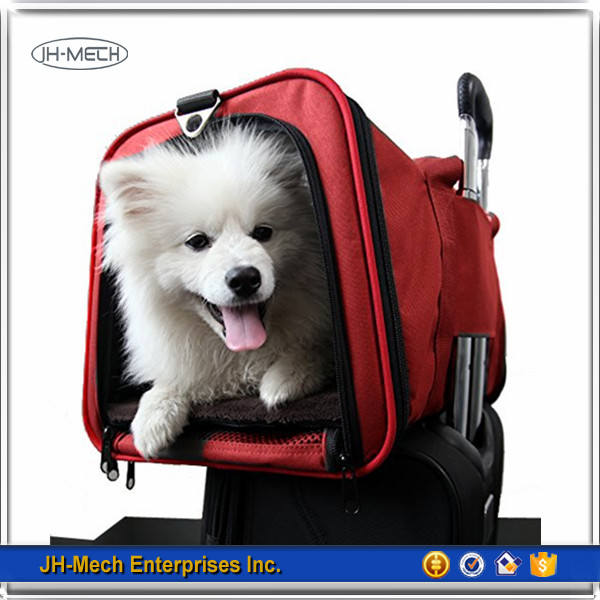 Classic style Unique pattern red pet Carrier Soft sided