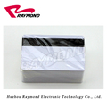 CR80 Silver Blank Plastic PVC Card with Black Hi-co Magnetic Stripe
