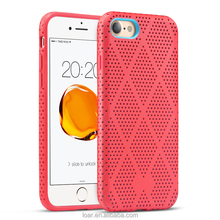 7 Plus Back cover Breathable Cover with Cooling Holes Shockproof Rugged Case Bumper for Apple iPhone 7 Case silicon TPU