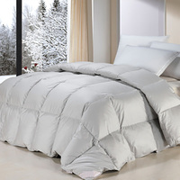 75% washed white duck feather quilt