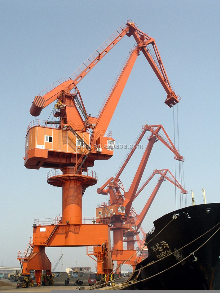 Marine 50 ton crane harbour portal crane ABS BV approved