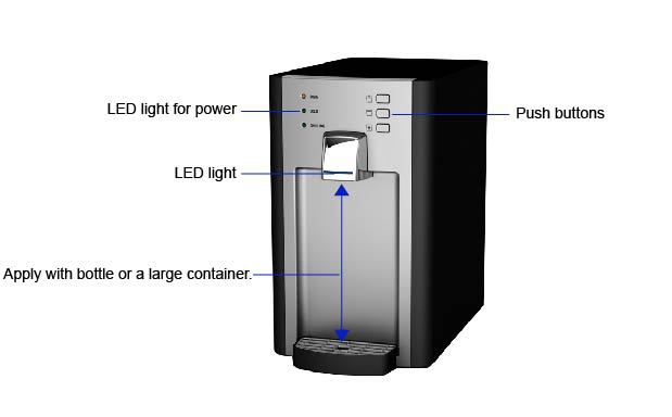 Cold /Soda water cooler, Cold / Hot / Ambient water dispenser M102H