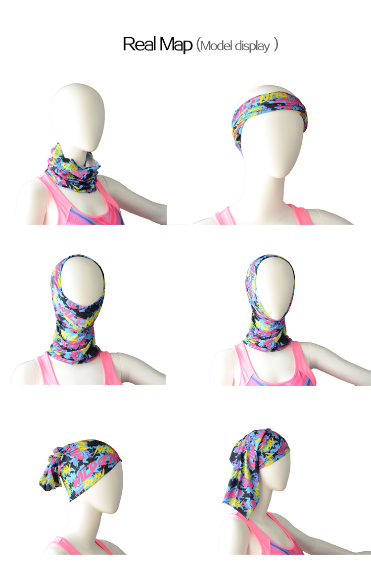 Fashionable head babdana face babdana design your own bandana