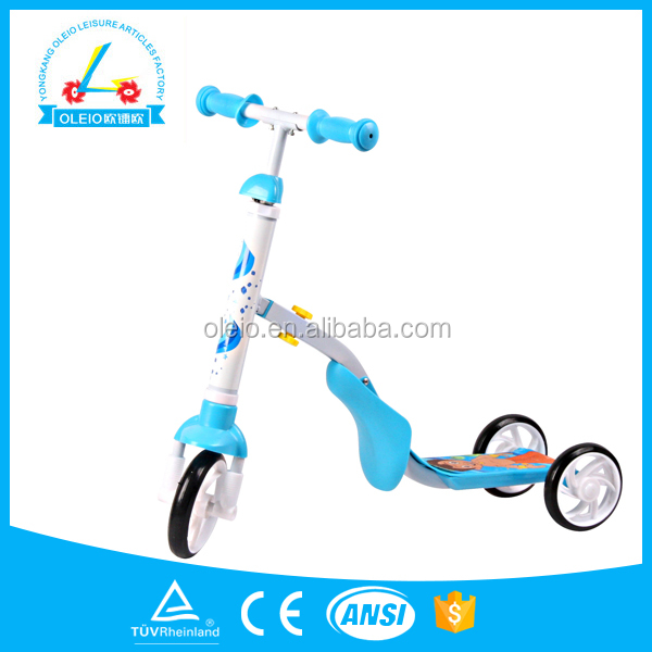 2014 the newest Christmas gift kids new model 2 in 1 pedal scooter car