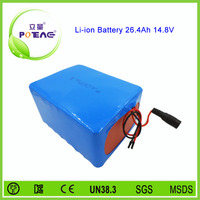 14.8v 26.4ah 4s12p lithium ion battery electric bicycles