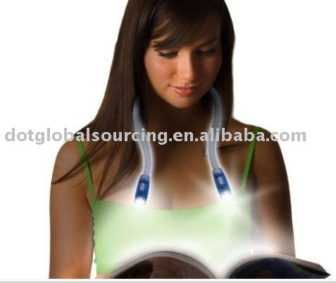 Flexible Led Flashlight Hands-Free Reading Book Light Huglight Lamp