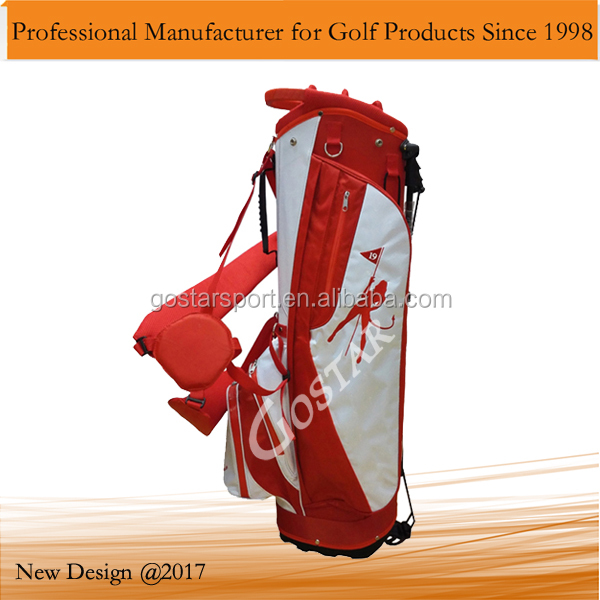 Red Nylon Golf Stand Bag