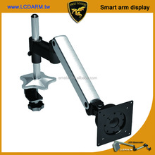 Ergonomic Desk Mounted Triple Ways Swing Desk Table Arm for LCD Monitor
