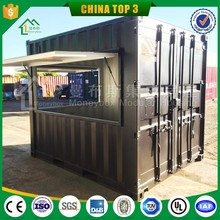 cheap prefab home container booth for sale/ 20ft prefabricated container house for sale with ISO/ phone booth for sale