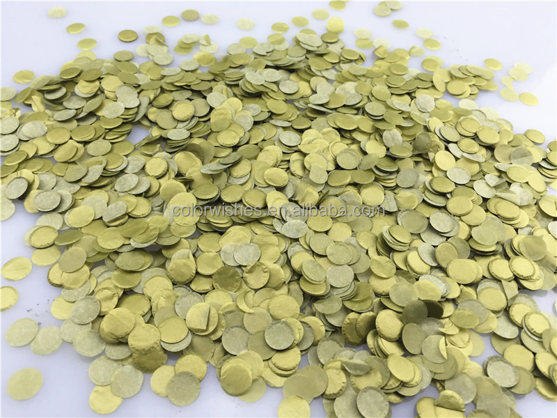 1cm Gold Round Tissue Paper Circle Confetti dots Throw Wedding Decorations