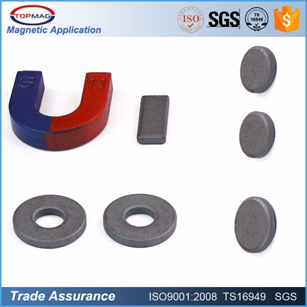 Ferrite magnet arc segment for home appliances and other permanent magnet motors