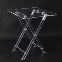 square PMMA dinning table,custom clear perspex dining table