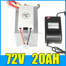 72v electric scooter battery 1500W 72v 20ah lifepo4 battery pack