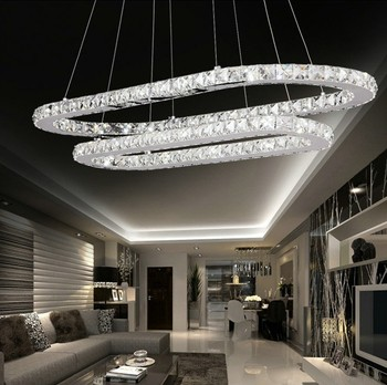 contemporary crystal led chandelier