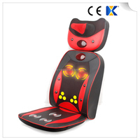 Car And Home Seat Using Electric Massage Rolling Kneading Neck And Back Massage cushion with heat