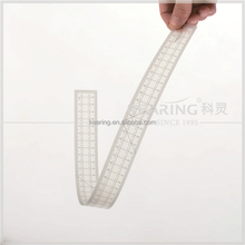 fashion plastic inch sized handicraft Patchwork Ruler in 0.5mm*51cm straight transparent #8008B