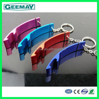 New design promotional gift metal keychain carabiner bottle holder