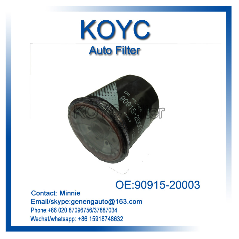 90915-20003 Car oil filter for volkswag Toyot Daihats Cher Min Lexu Horto