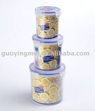 airtight food storage containers, Cylindrical lock taping storage containers